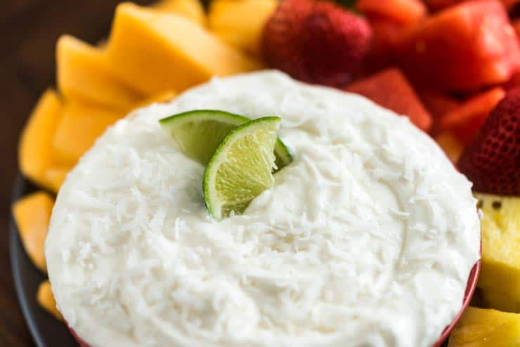 Coconut Lime Fruit Dip with Cool Whip