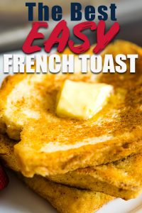 Easy french toast with butter on top