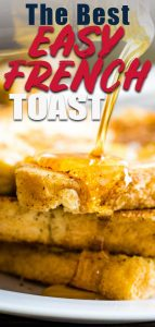 Easy French Toast on a white plage