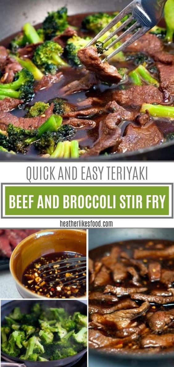 A super quick dinner recipe perfect for the family! This Teriyaki Beef and Broccoli Stir Fry is loaded with fresh or frozen broccoli, tender beef strips, and is drenched in a sweet and savory sauce. Plus, it only has a handful of simple ingredients! Save this teriyaki beef stir fry recipe! via @hlikesfood