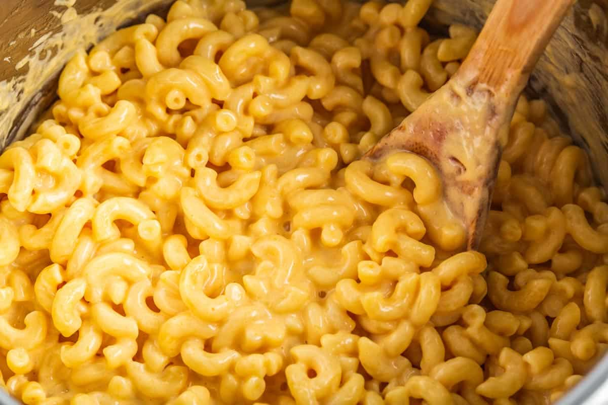 Mac and cheese inside of Instant Pot