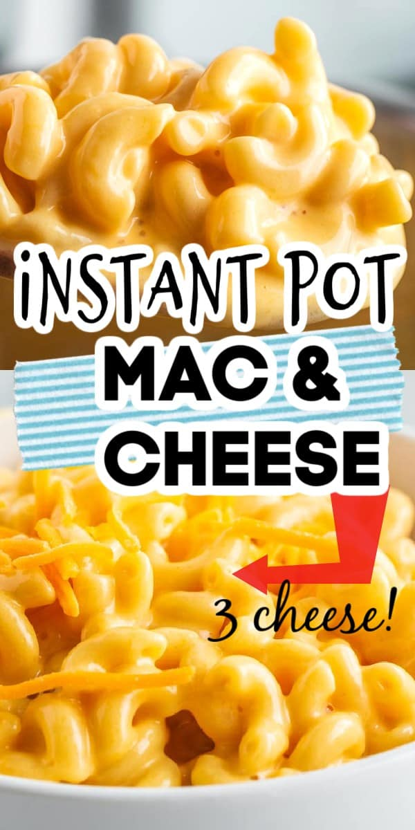 If you love mac and cheese, this is the Instant Pot recipe for you! It uses 3 types of cheese and turns out so creamy! Super simple to make and you can even customize your level of creaminess based on what you use! via @hlikesfood