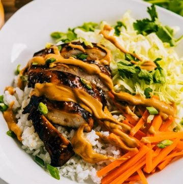 Grilled Thai Chicken Bowls