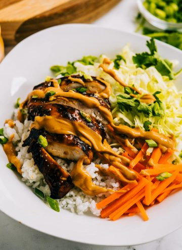 Grilled Thai Chicken Bowls